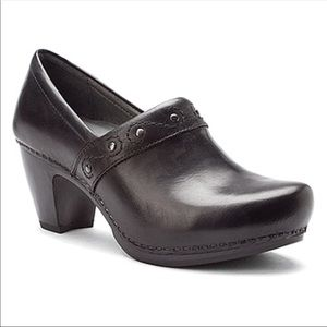 Dansko Riki Black Leather Pumps Heels 39/9